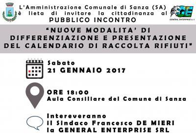 NUOVE MODILITA' DI DIFFERENZIAZIONE E PRESENTAZIONE DEL CALENDARIO DI RACCOLTA RIFIUTI