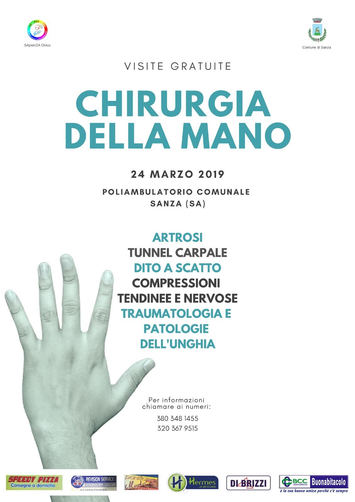 Visite Gratuite - CHIRURGIA DELLA MANO