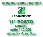 Comuni Ricicloni 2011 - 11° Posto