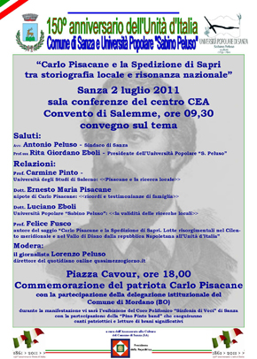 """""""Carlo Pisacane e la Spedizione di Sapri  tra storiografia locale e risonanza nazionale"""""""