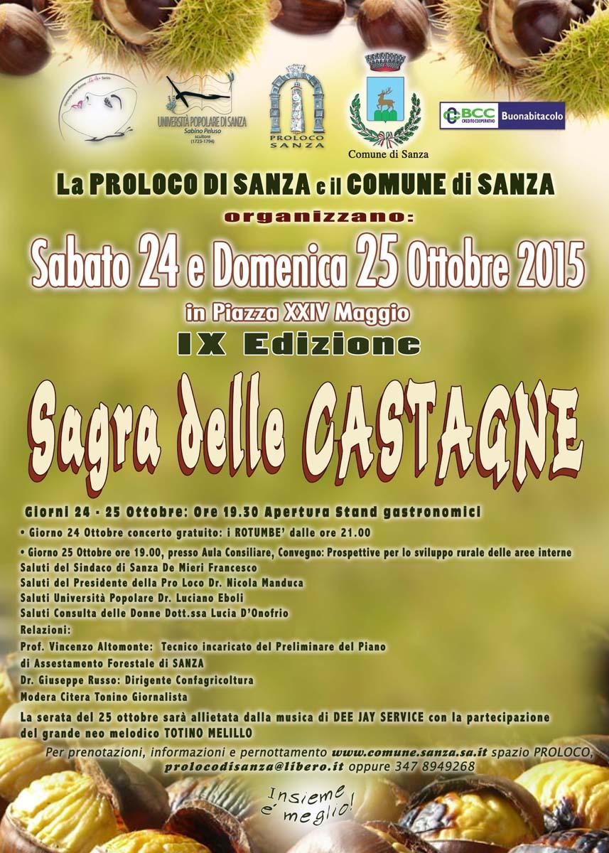IX Edizione della SAGRA DELLE CASTAGNE